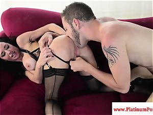 uber-sexy Veronica Avluv plumbs and deep throats stiff shaft