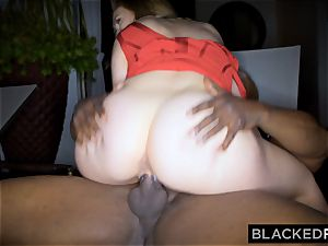 BLACKEDRAW fat tit milky doll gets double teamed by BBCs